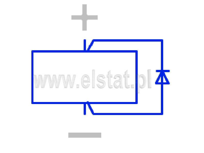 Schemat zabezpieczenie przepięciowego diodą