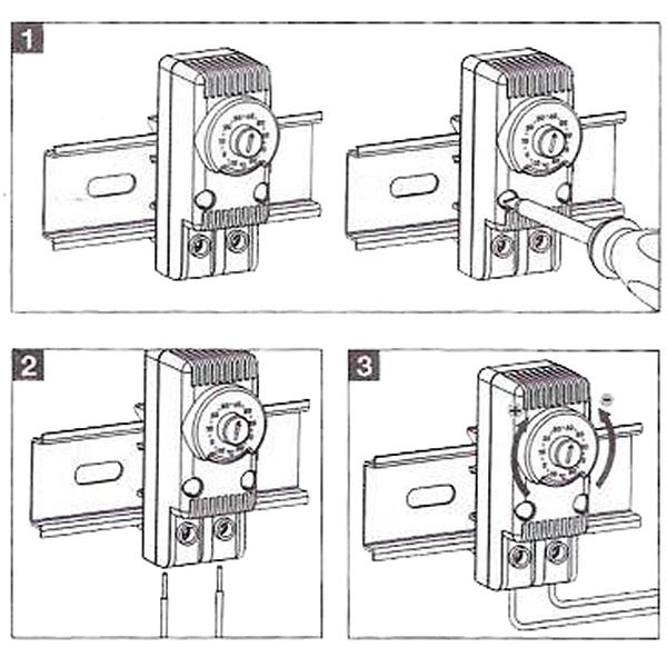 Montaż przewodów termostatów do sterowania grzałek szaf sterowniczych