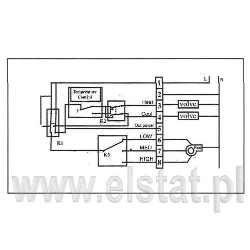Termostat pokojowy- schemat elektryczny