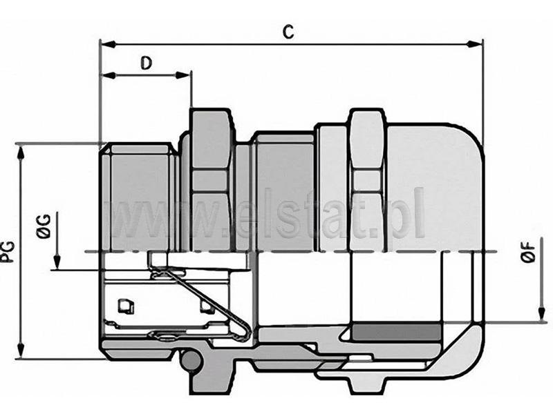 Wymiary dławnicy metalowej