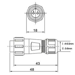 Wymiary złącz SP13
